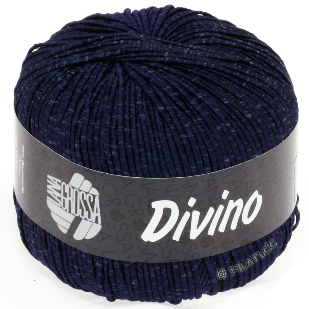 Lana Grossa DIVINO Uni уни | 23-тёмно-синий