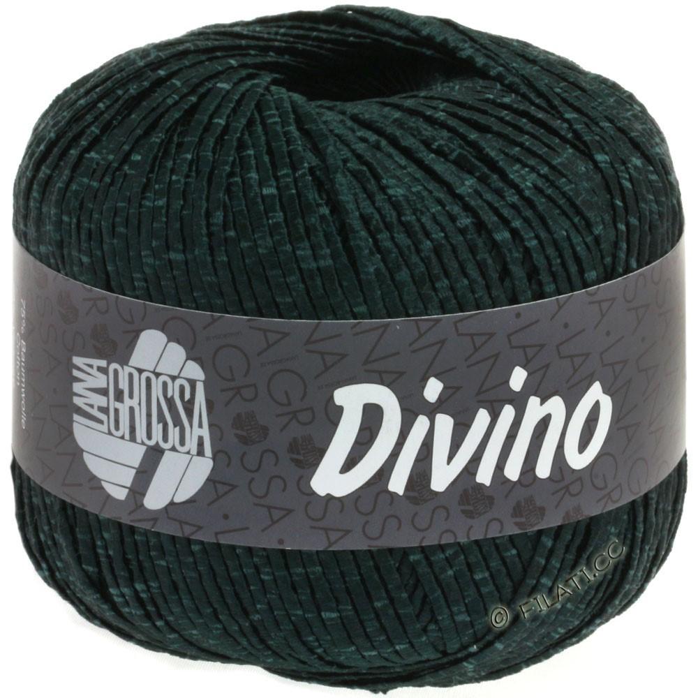 Lana Grossa DIVINO Uni уни | 55-чёрно-зелёный