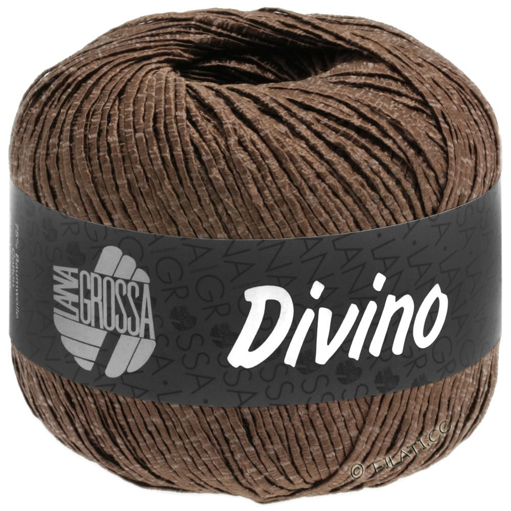 Lana Grossa DIVINO Uni уни | 57-коричневый шоколад