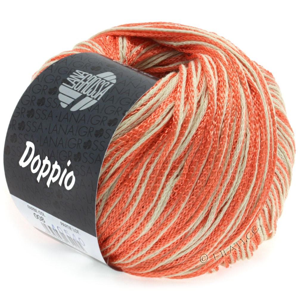 Lana Grossa DOPPIO/DOPPIO Unito | 008-лососевый/натуральный