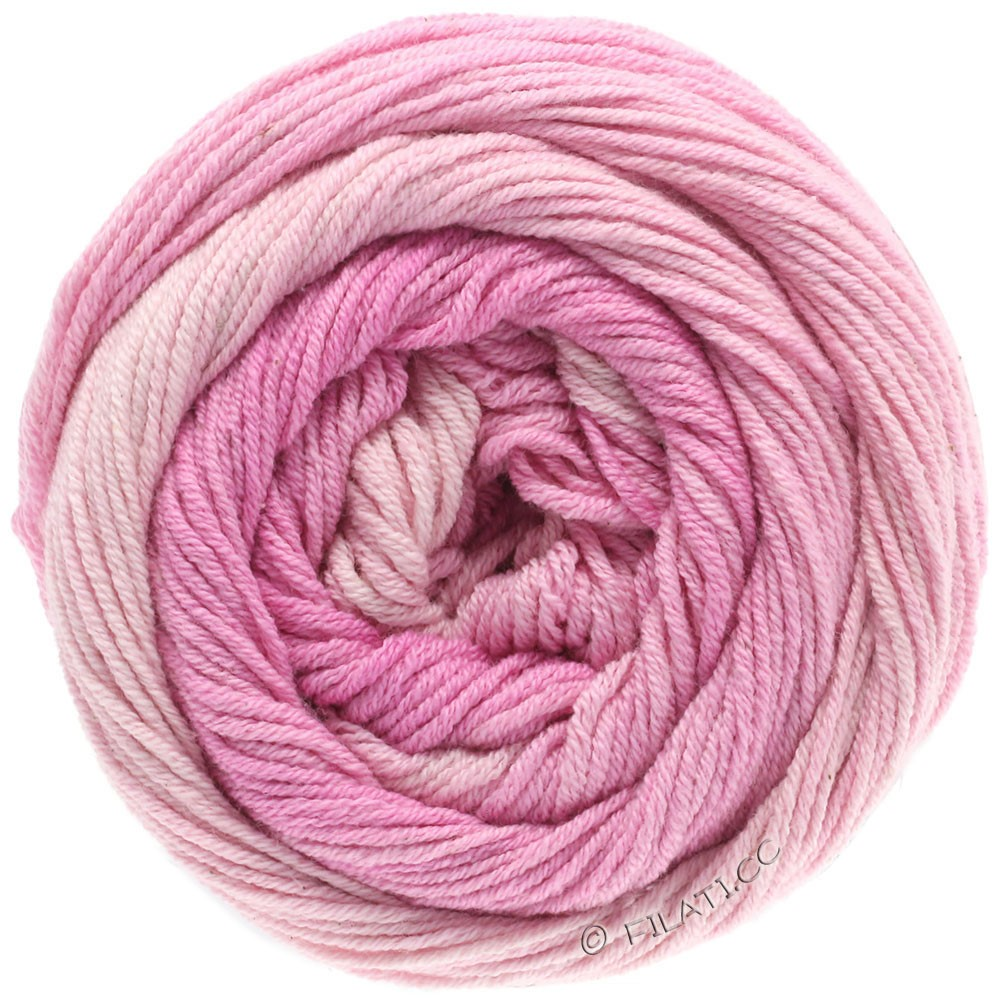 Lana Grossa ELASTICO Degradé | 701-мягко-розовый/розовый/пинк