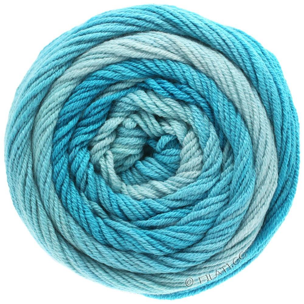 Lana Grossa ELASTICO Degradé | 704-светло-голубой/пастельный бирюзовый/сине-бирюзовый