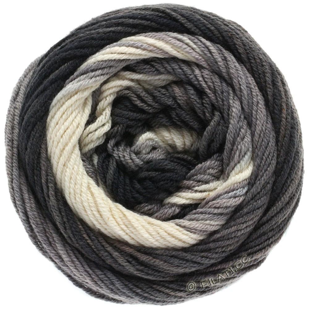 Lana Grossa ELASTICO Degradé | 709-натуральный/светло-серый/средне-серый/антрацитовый/чёрный