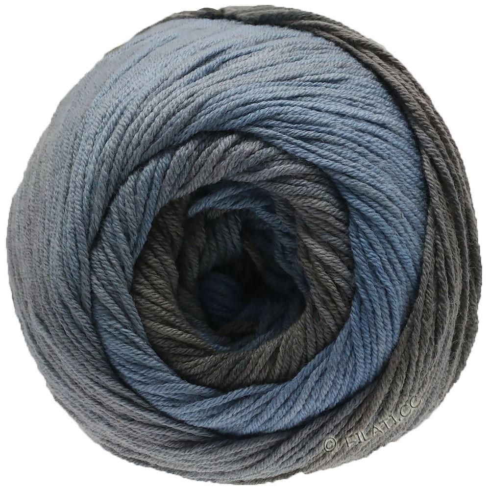 Lana Grossa ELASTICO Degradé | 712-синий дым/средне-серый/серо-коричневый