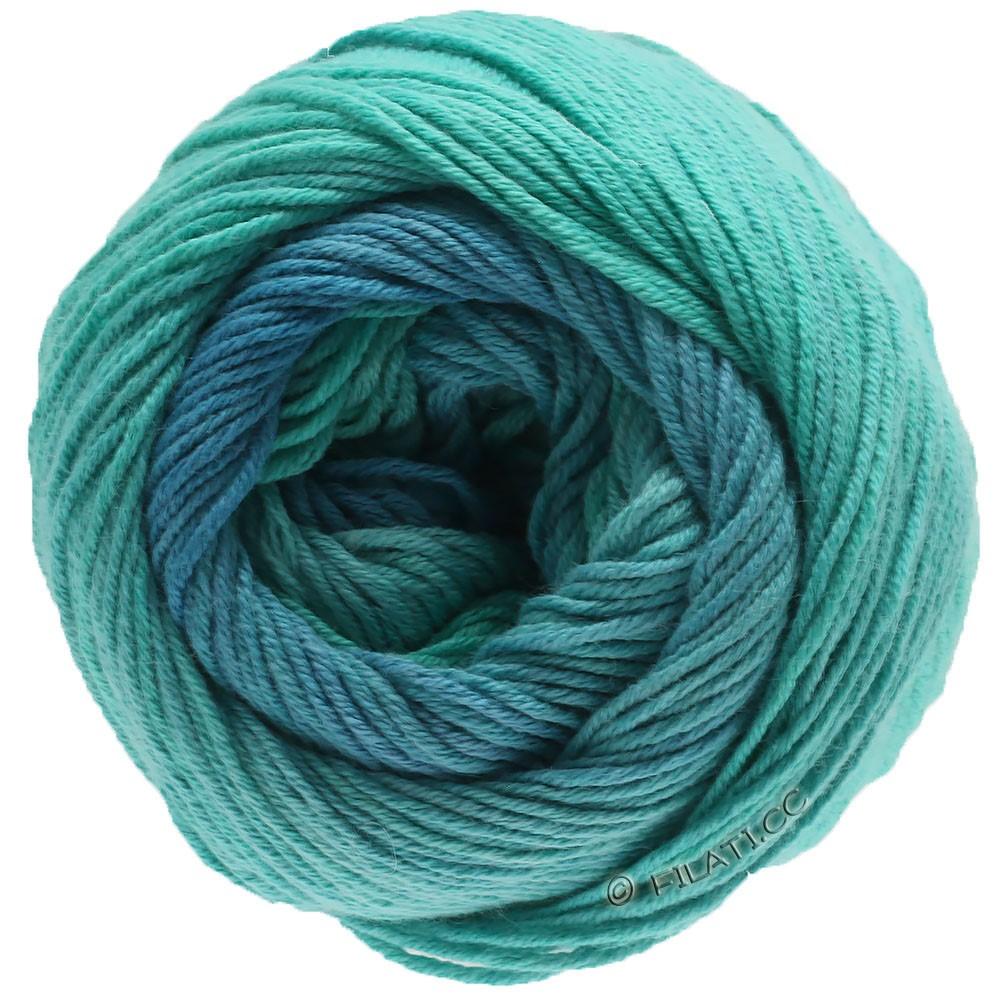 Lana Grossa ELASTICO Degradé | 714-аквамарин/зелено-бирюзовый/светлый сине-голубой