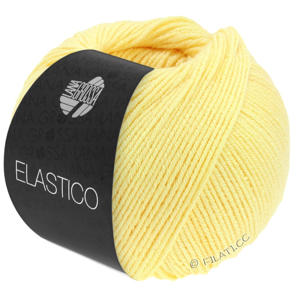Lana Grossa ELASTICO  Uni/Print уни/принт | 041-жёлтый