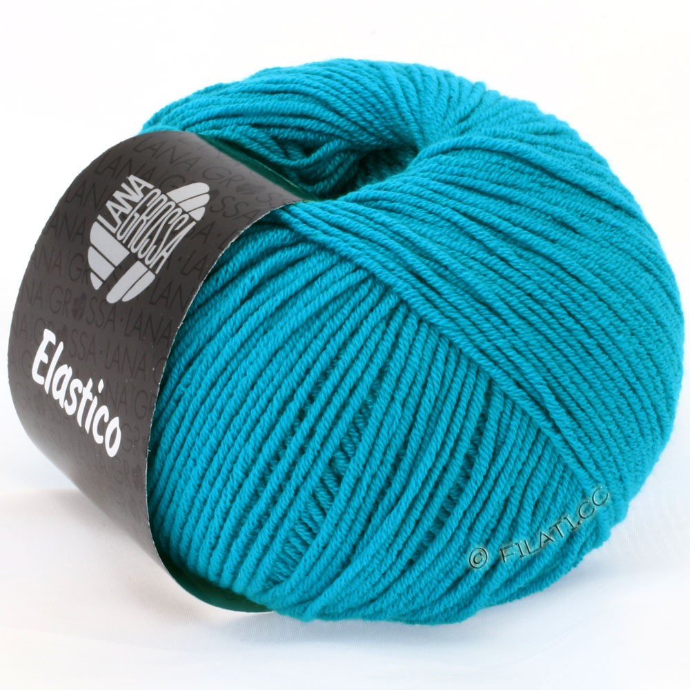 Lana Grossa ELASTICO  Uni/Print уни/принт | 112-сине-бирюзовый