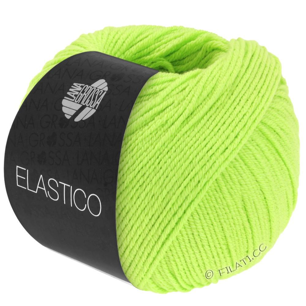 Lana Grossa ELASTICO  Uni/Print уни/принт | 113-ярко-зелёный