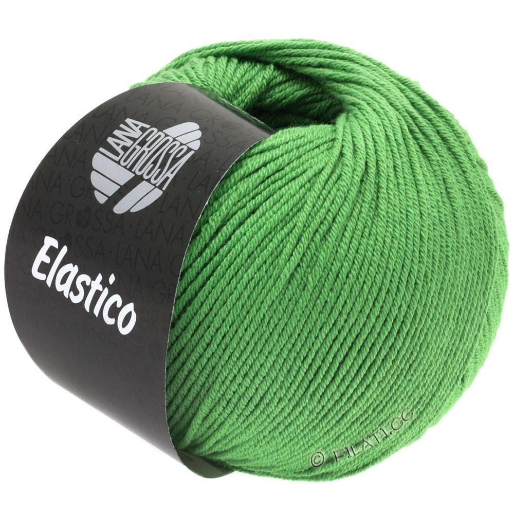Lana Grossa ELASTICO  Uni/Print уни/принт | 129-зеленый, как трава