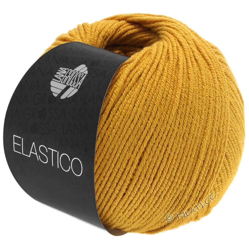 Lana Grossa ELASTICO  Uni/Print уни/принт | 139-желтый нарцисс
