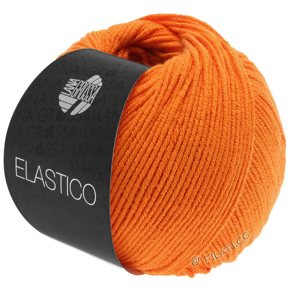 Lana Grossa ELASTICO  Uni/Print уни/принт | 145-оранжевый