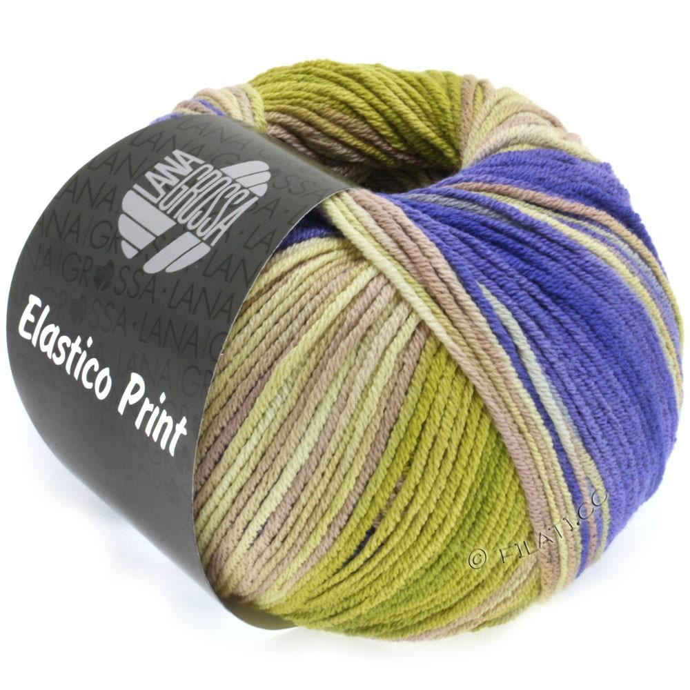 Lana Grossa ELASTICO Uni/Print уни/принт | 515-фиолетовый/беж/серый бежевый/серо-коричневый