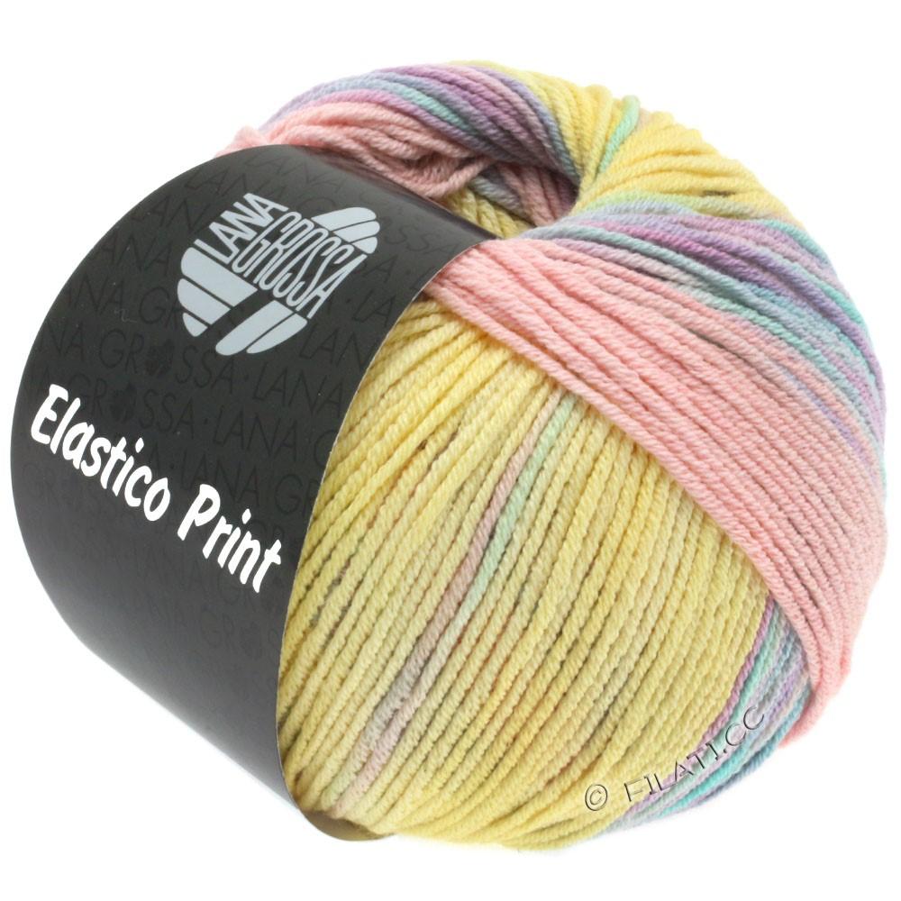 Lana Grossa ELASTICO Uni/Print уни/принт | 517-ваниль/деликатным фиолетовый/розовый/деликатным зеленый