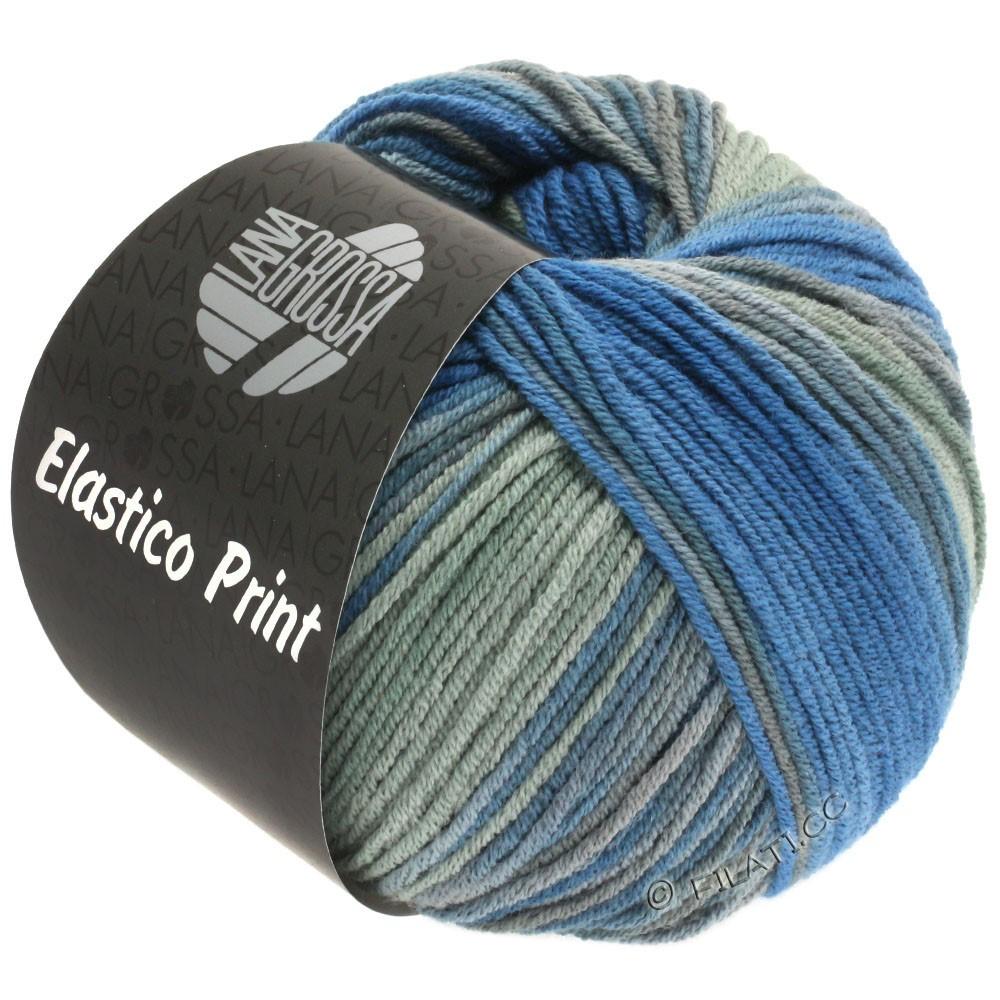 Lana Grossa ELASTICO  Uni/Print уни/принт | 524-чернила/зеленый серый/серый, как камень/Старый розовый
