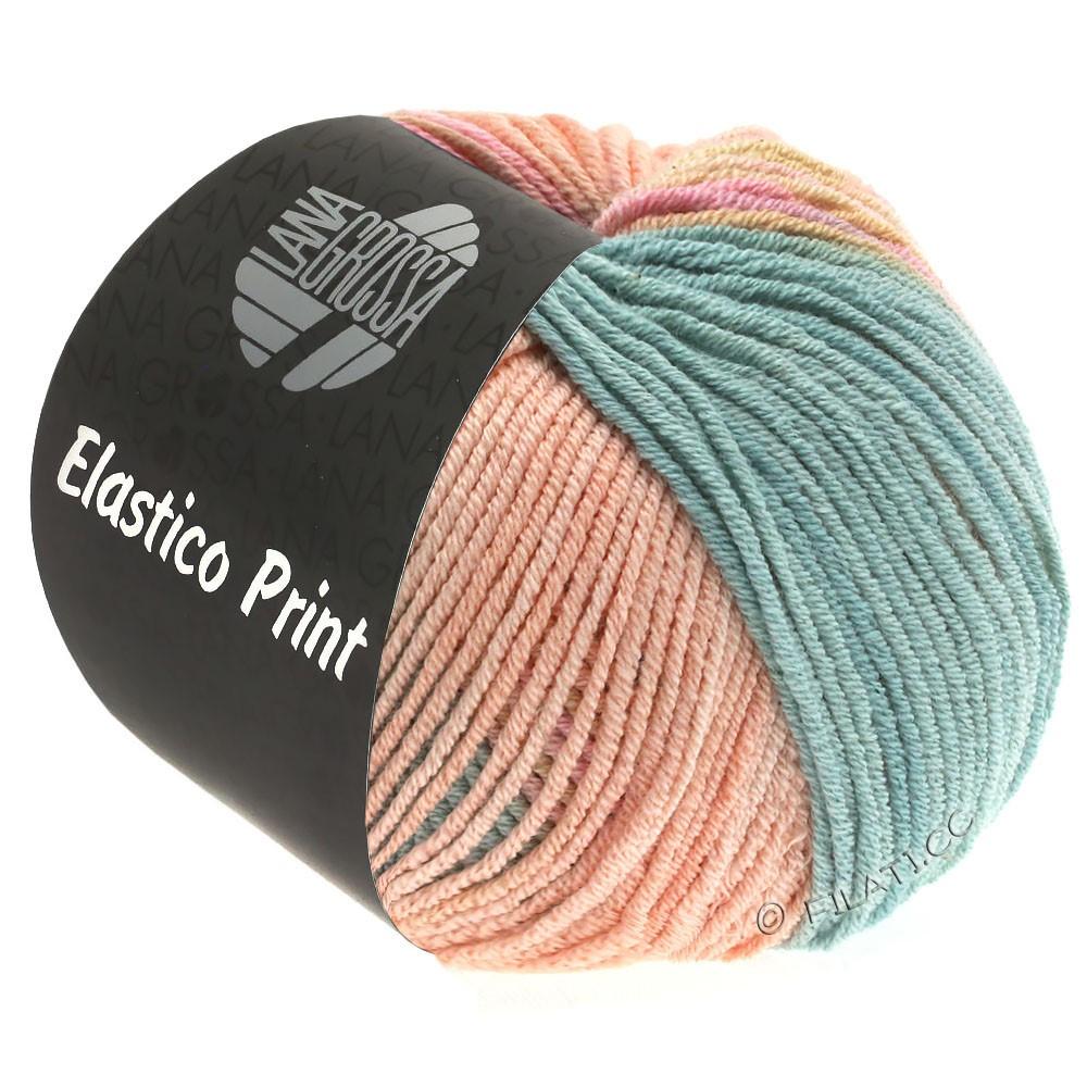 Lana Grossa ELASTICO  Uni/Print уни/принт | 525-мягко-розовый/персик/серо-зеленый/слоновая кость