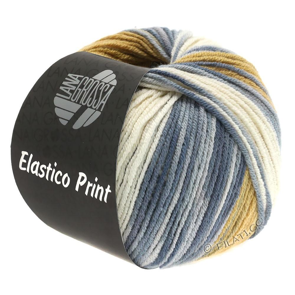Lana Grossa ELASTICO  Uni/Print уни/принт | 528-натуральный/легко коричневый/серо- бежевый/серый
