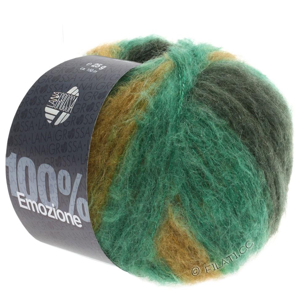 Lana Grossa EMOZIONE Degradé | 103-изумрудный/чёрно-зелёный/оливковый