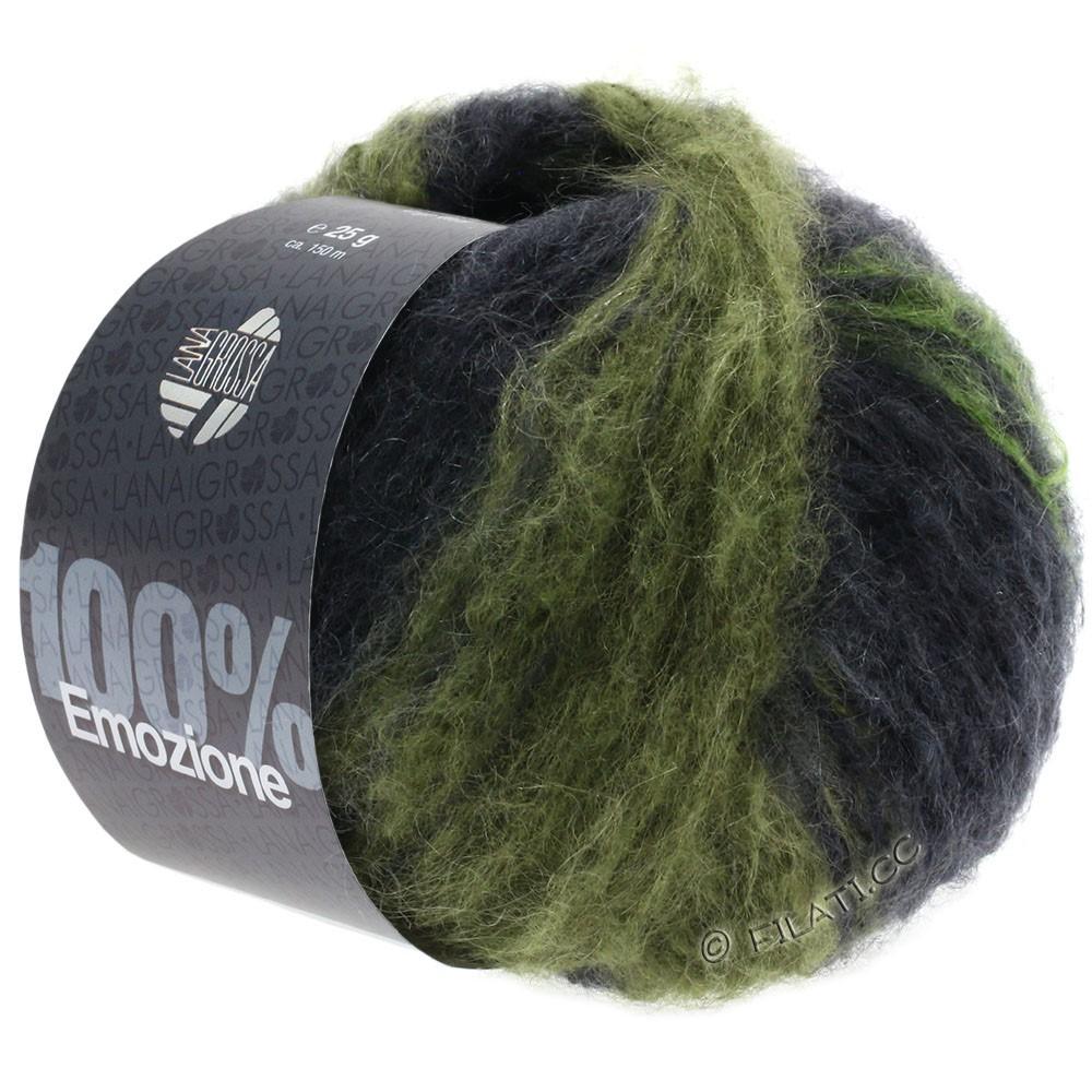 Lana Grossa EMOZIONE Degradé | 110-светло-зелёный/темно-зеленый/антрацитовый
