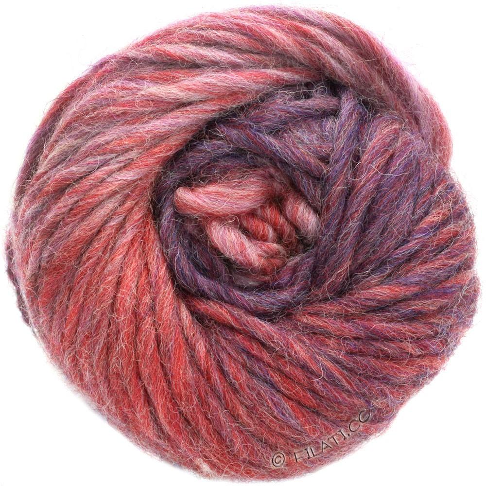 Lana Grossa FELTRO Degradé | 1301-кирпично-красный/серо-розовый/баклажановый