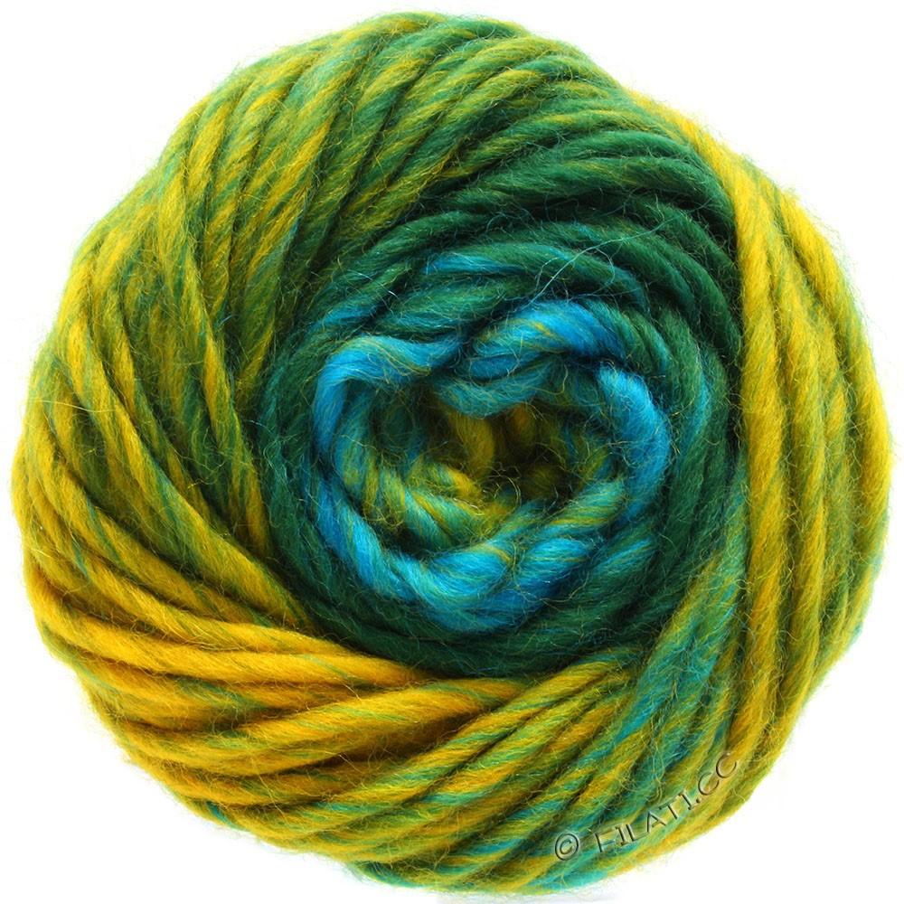 Lana Grossa FELTRO Degradé | 1308-петроль/тёмно-зелёный/мед желтый