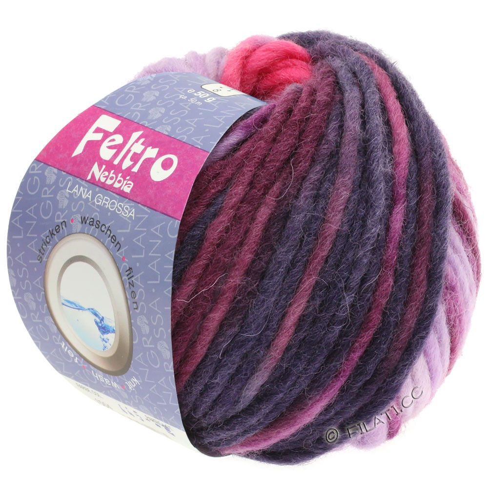 Lana Grossa FELTRO Nebbia   1502-пинк/пурпурный/красная фиалка