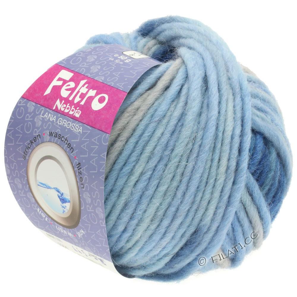 Lana Grossa FELTRO Nebbia | 1504-светло-голубой/голубой/тёмно-синий