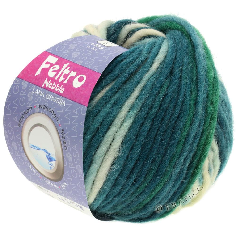 Lana Grossa FELTRO Nebbia   1505-светло-зелёный/нефритово-зеленый/серо-зеленый/тёмно-зелёный