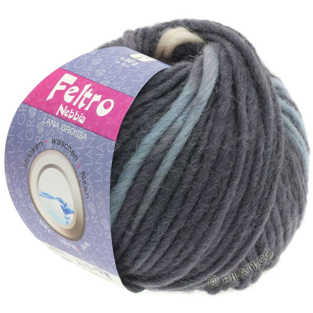 Lana Grossa FELTRO Nebbia   1507-светло-серый/антрацитовый