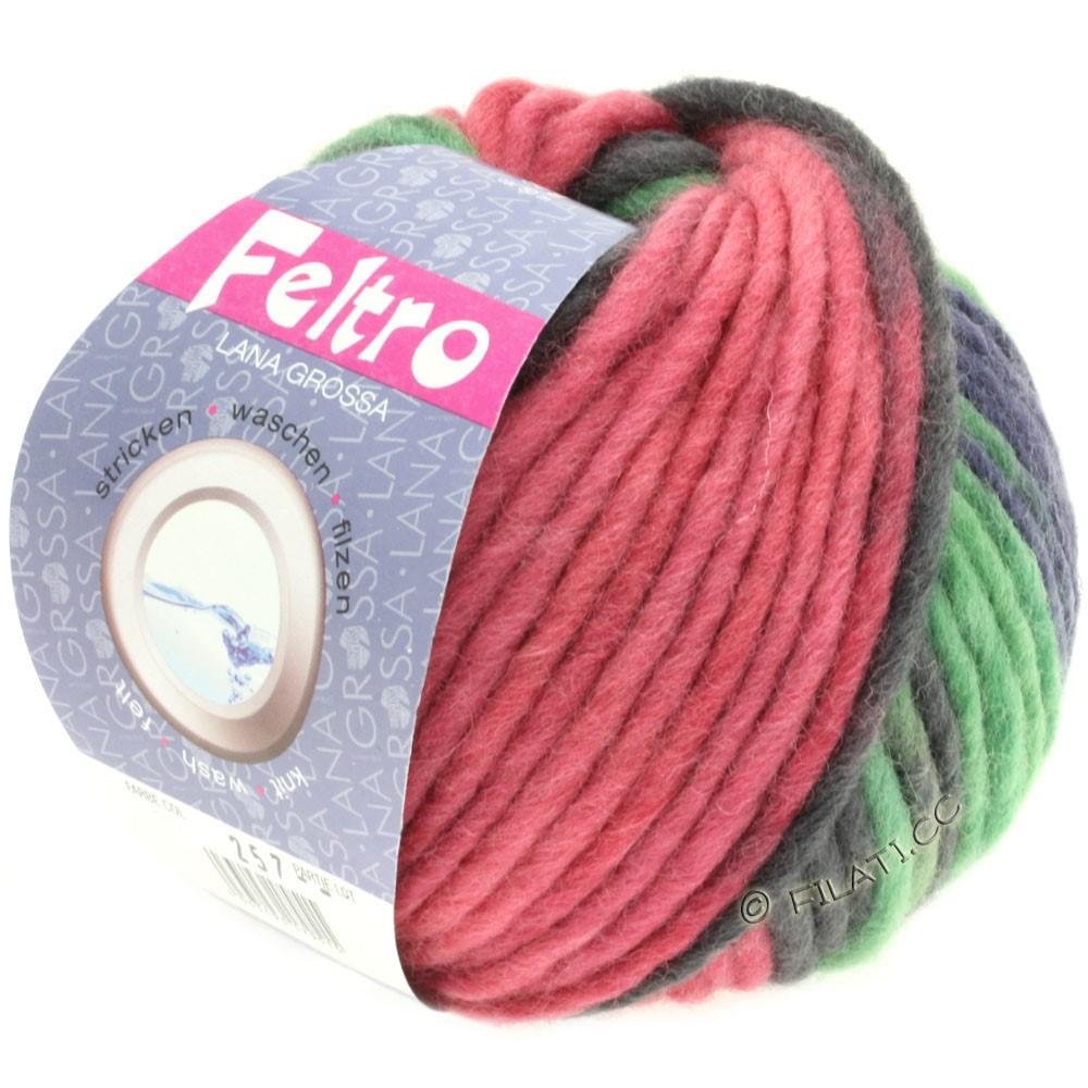 Lana Grossa FELTRO Print принт | 363-ветхо-розовый/зелёный/сине-фиолетовый