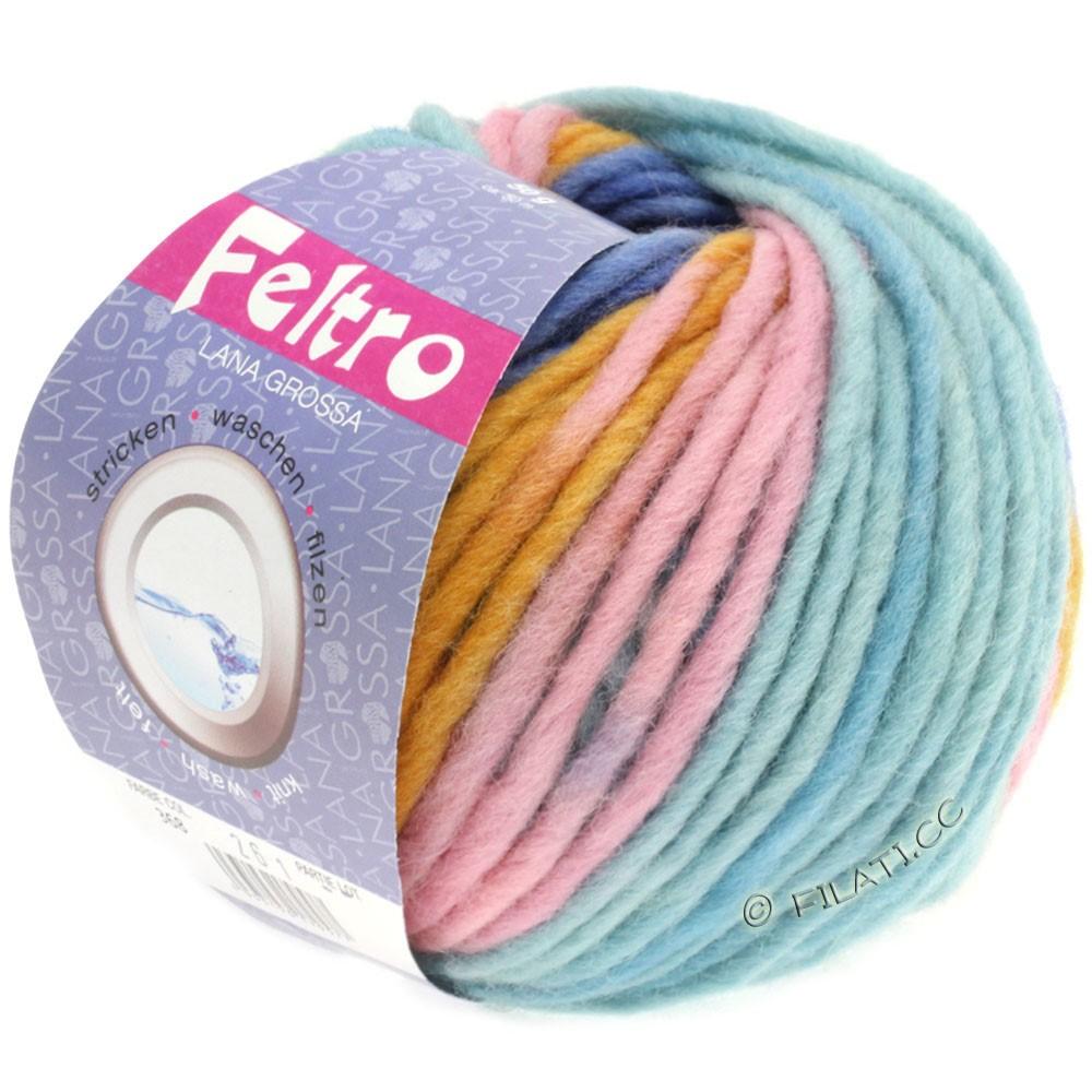 Lana Grossa FELTRO Print принт | 368-золотисто-жёлтый/розовый/светло-голубой