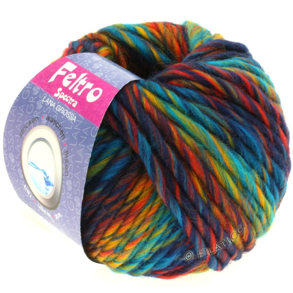 Lana Grossa FELTRO Spectra | 801-бирюзовый/синий/жёлтый/красный