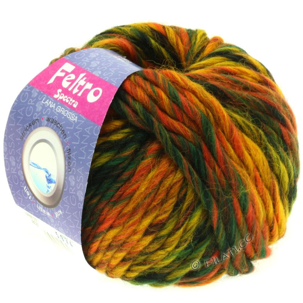 Lana Grossa FELTRO Spectra | 803-цвет ржавчины/жёлтый/кофе мокко/тёмно-зелёный/чёрный