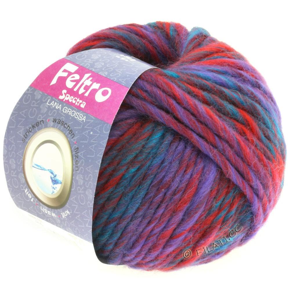 Lana Grossa FELTRO Spectra | 816-тёмно-красный/фиолетовый/петроль
