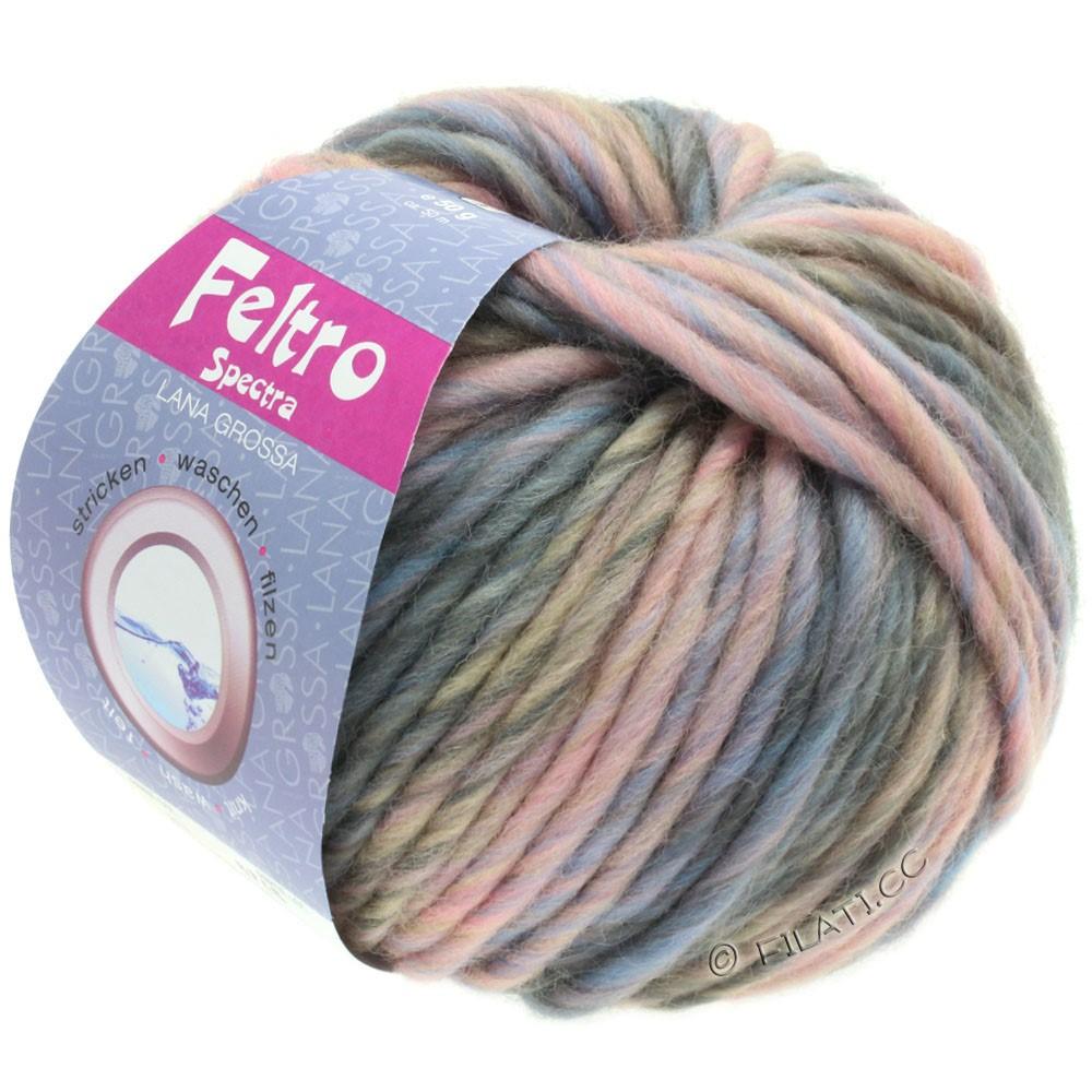 Lana Grossa FELTRO Spectra | 817-розовый/светло-голубой/серый/серо-коричневый