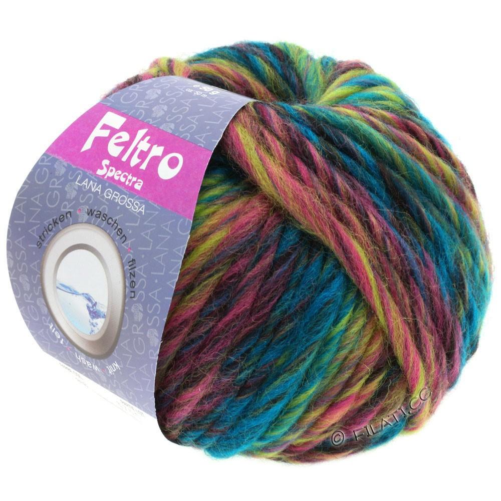 Lana Grossa FELTRO Spectra   818-петроль/жёлто-зеленый/розовый/пинк/бургунд/антрацитовый