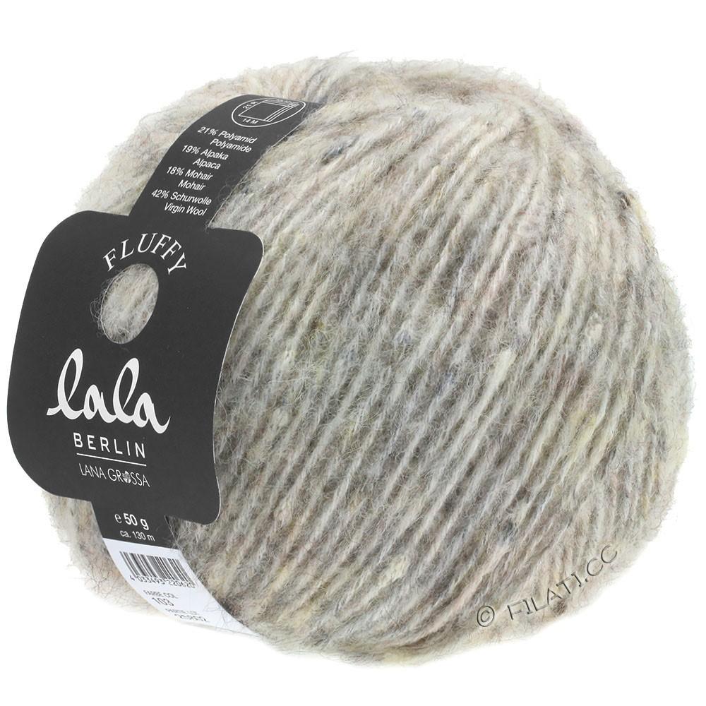 Lana Grossa FLUFFY (lala BERLIN) | 103-серо- бежевый меланжевый