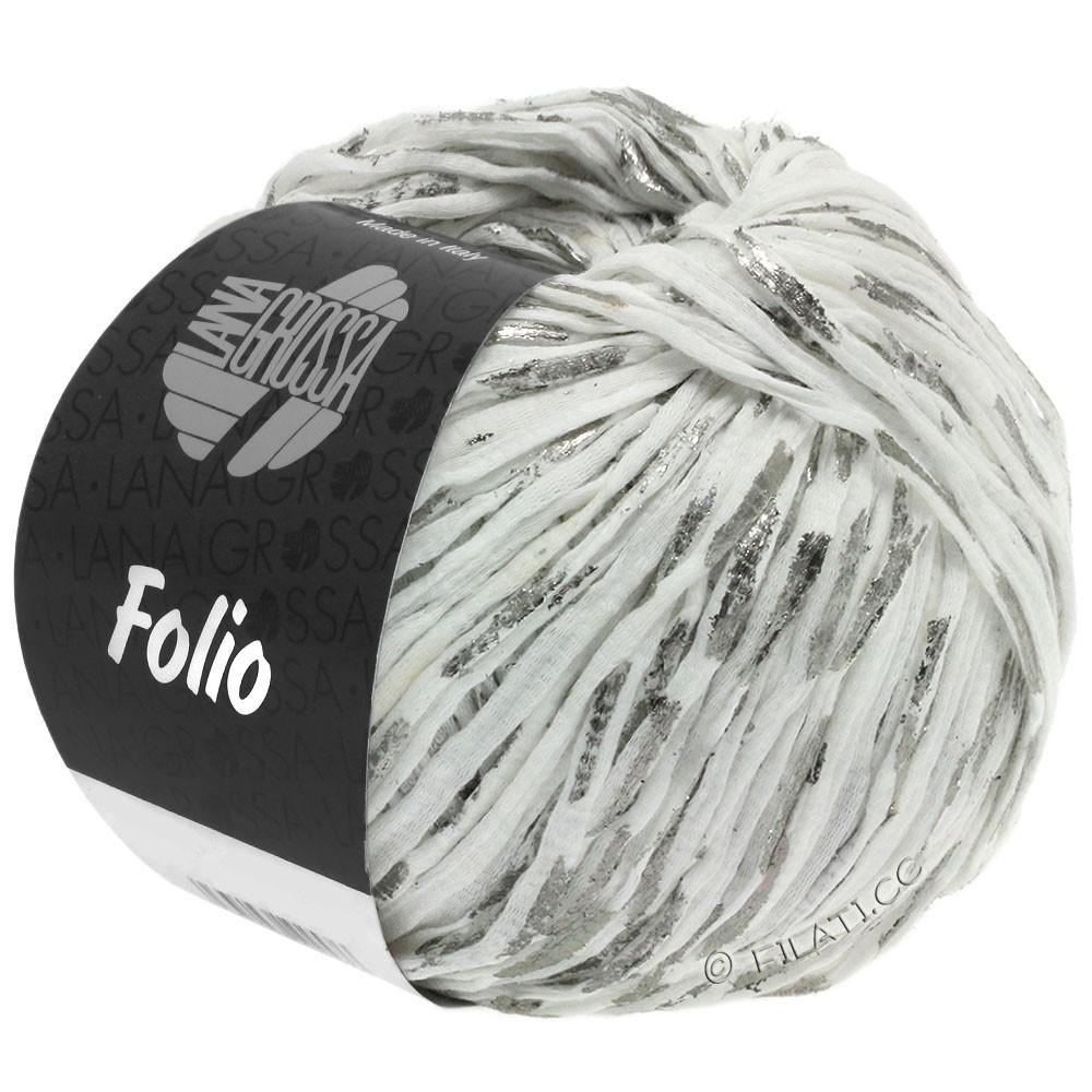 Lana Grossa FOLIO | 01-белый/серебряный