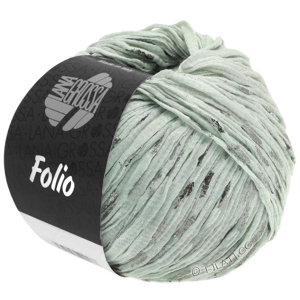 Lana Grossa FOLIO | 02-серо-зеленый/серебряный