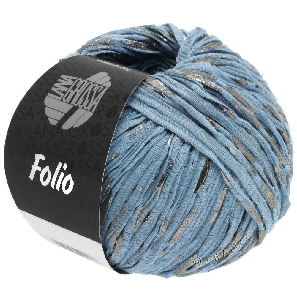 Lana Grossa FOLIO | 04-светло-голубой/серебряный
