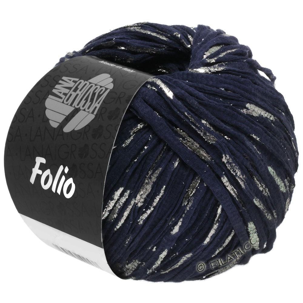 Lana Grossa FOLIO | 05-тёмно-синий/серебряный