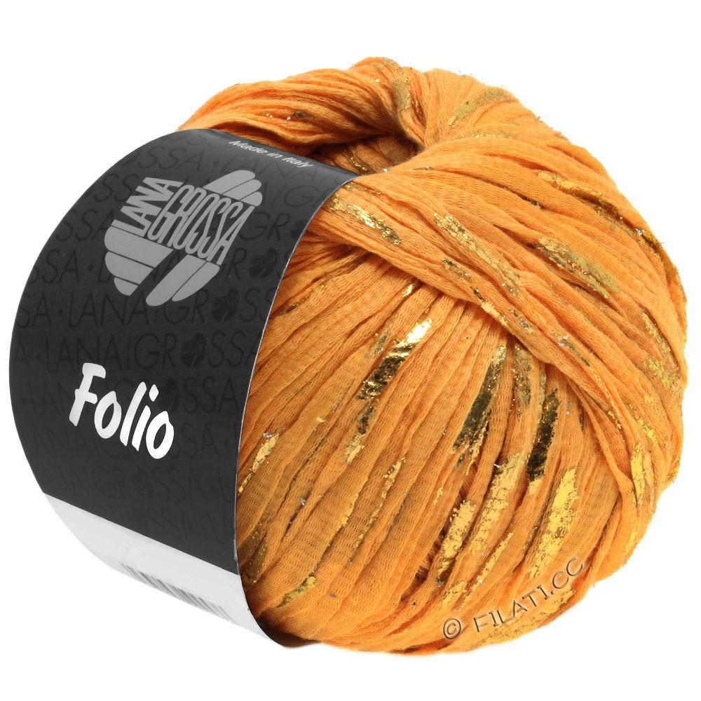 Lana Grossa FOLIO | 09-оранжевый/золотой