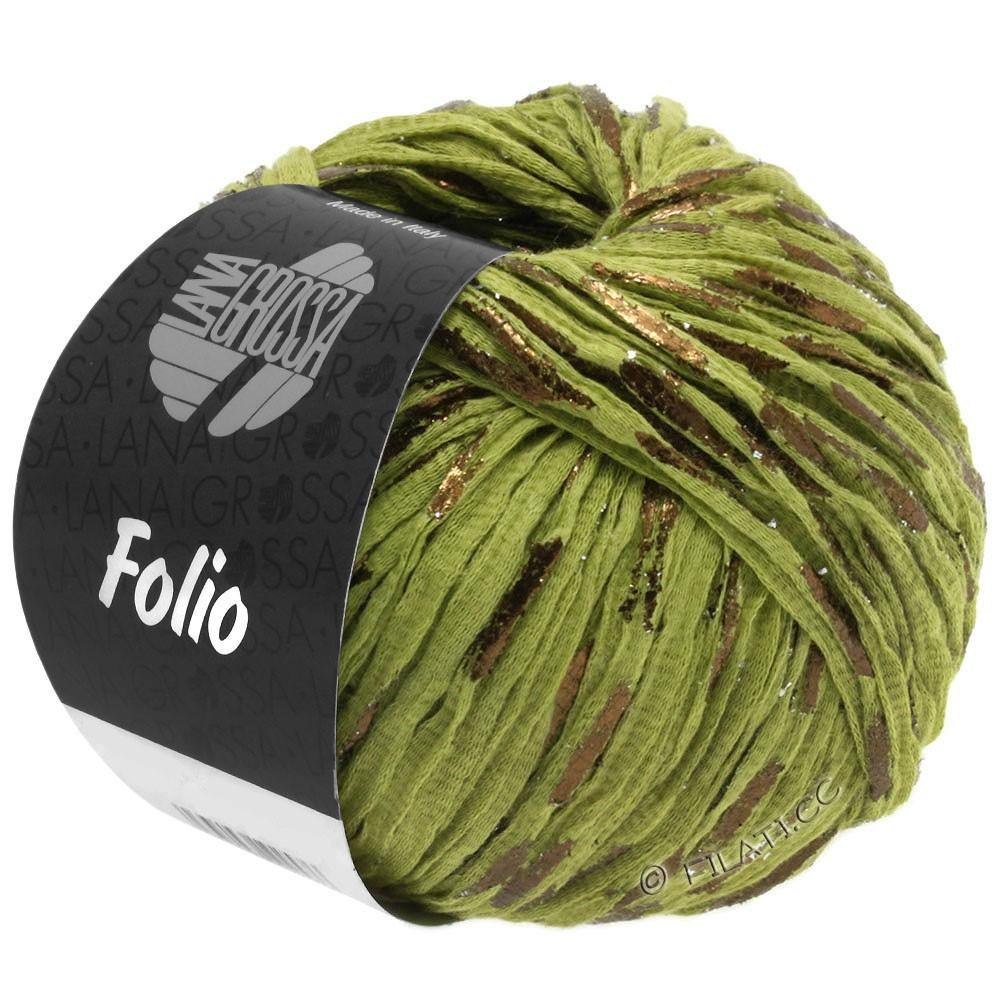 Lana Grossa FOLIO | 13-светло-оливковый/медь
