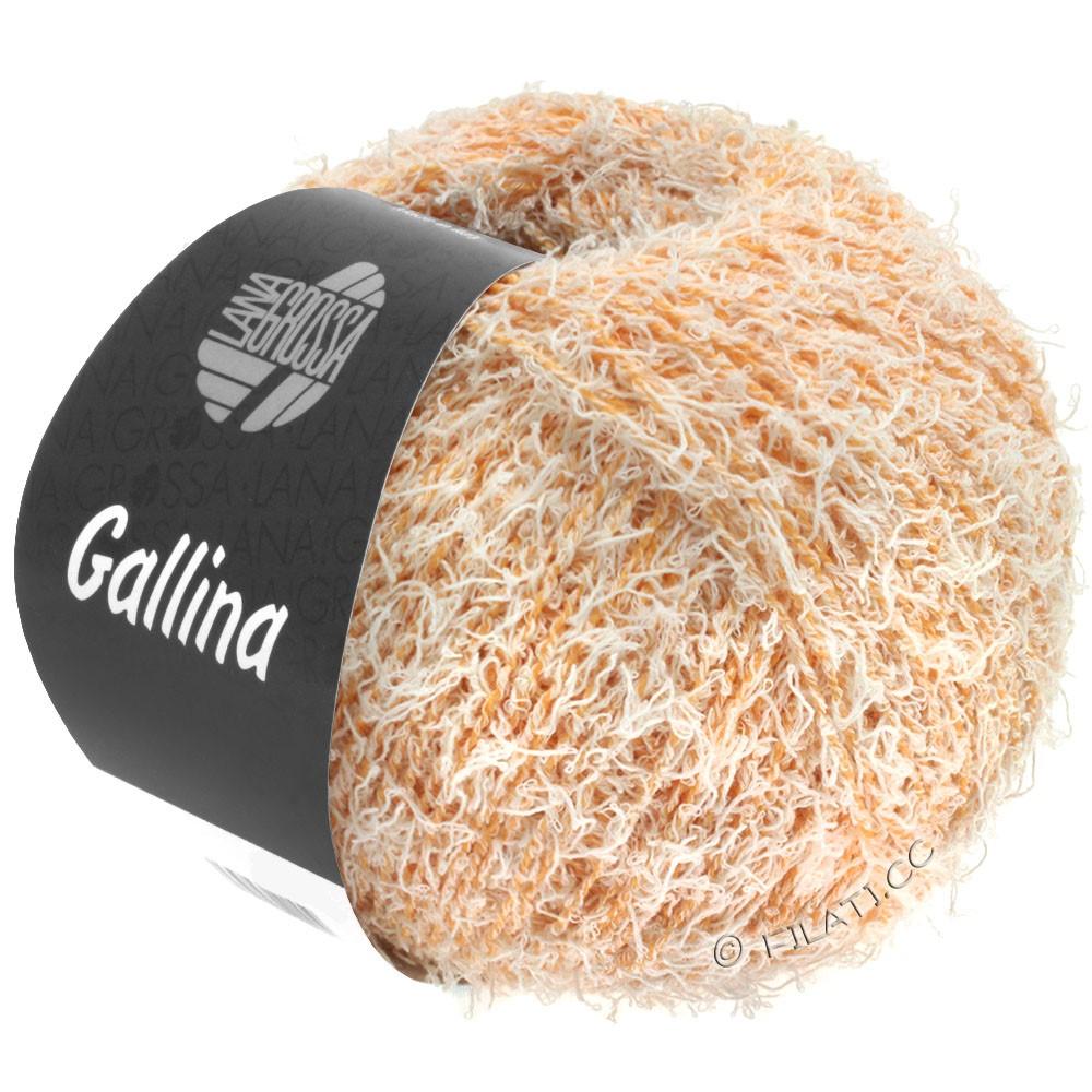 Lana Grossa GALLINA | 09-оранжевый/цвет экрю