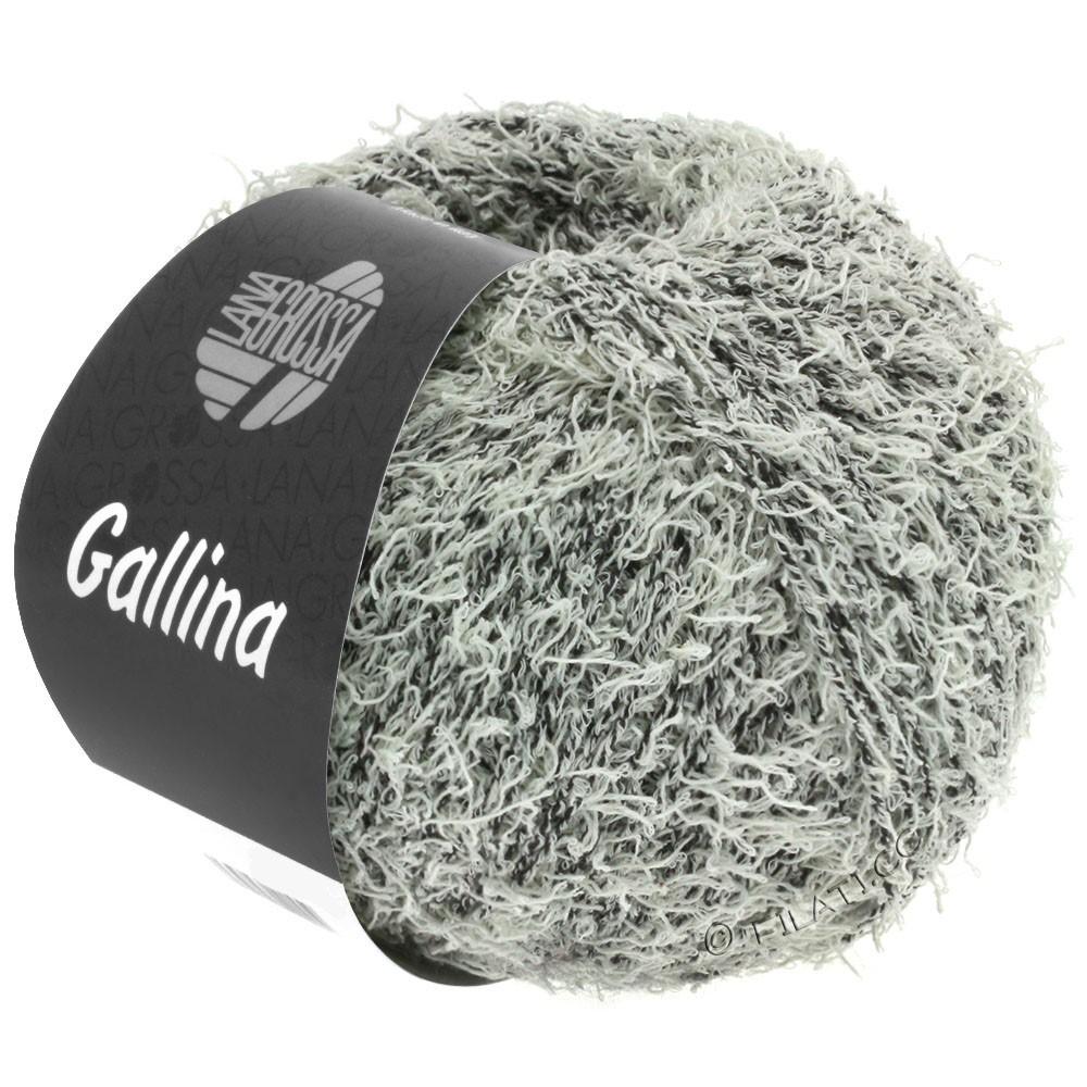 Lana Grossa GALLINA | 14-чёрный/цвет экрю