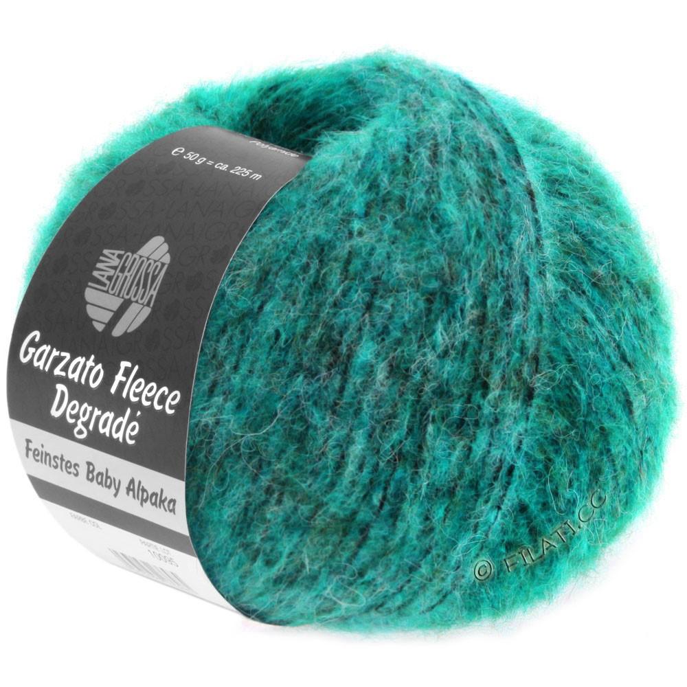 Lana Grossa GARZATO Fleece Uni/Print/Degradé | 301-светлый сине-голубой/средне сине-зеленный/тёмно сине-зеленый