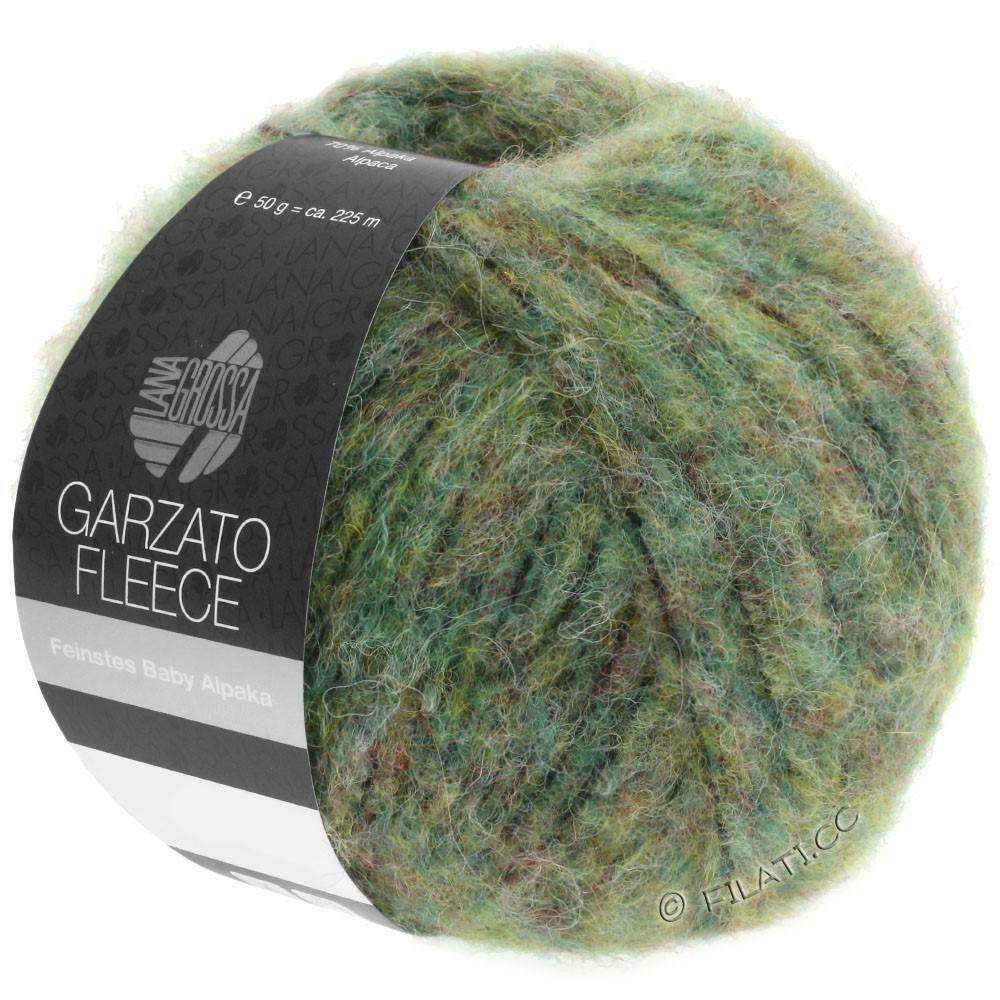 Lana Grossa GARZATO Fleece Uni/Print/Degradé | 030-светло-зелёный/жёлто-зеленый/чёрный