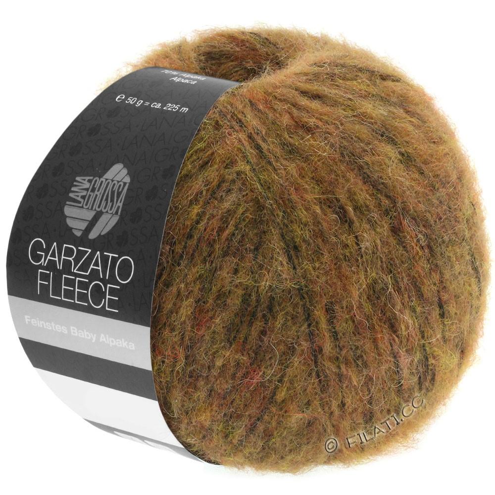 Lana Grossa GARZATO Fleece Uni/Print/Degradé | 031-светло-коричневый/охра/чёрный