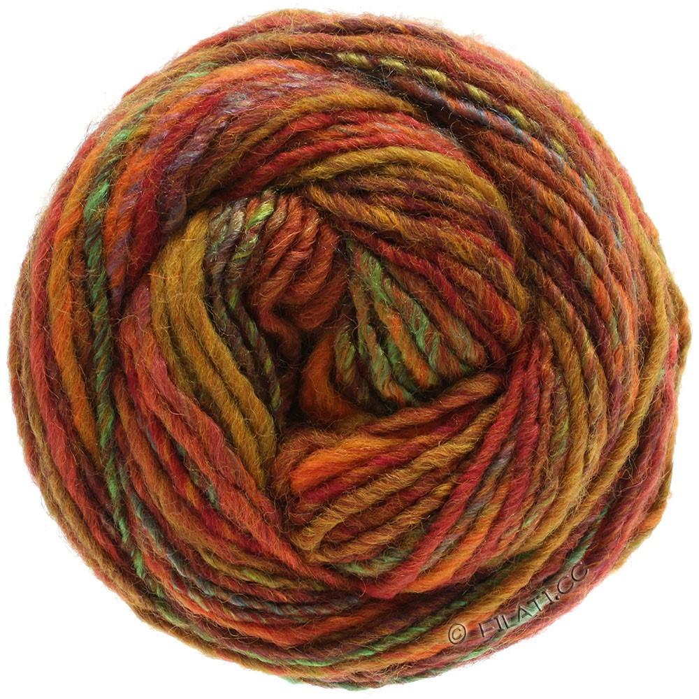 Lana Grossa GOMITOLO 100 | 102-горчично-желтый/красно-коричневый/зелёный/синий