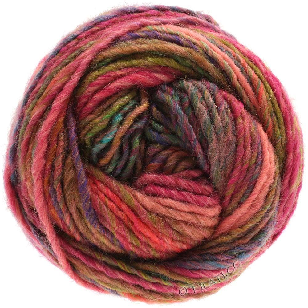 Lana Grossa GOMITOLO 100 | 106-светло-красный/пинк/медь/фиолетовый/зелёный