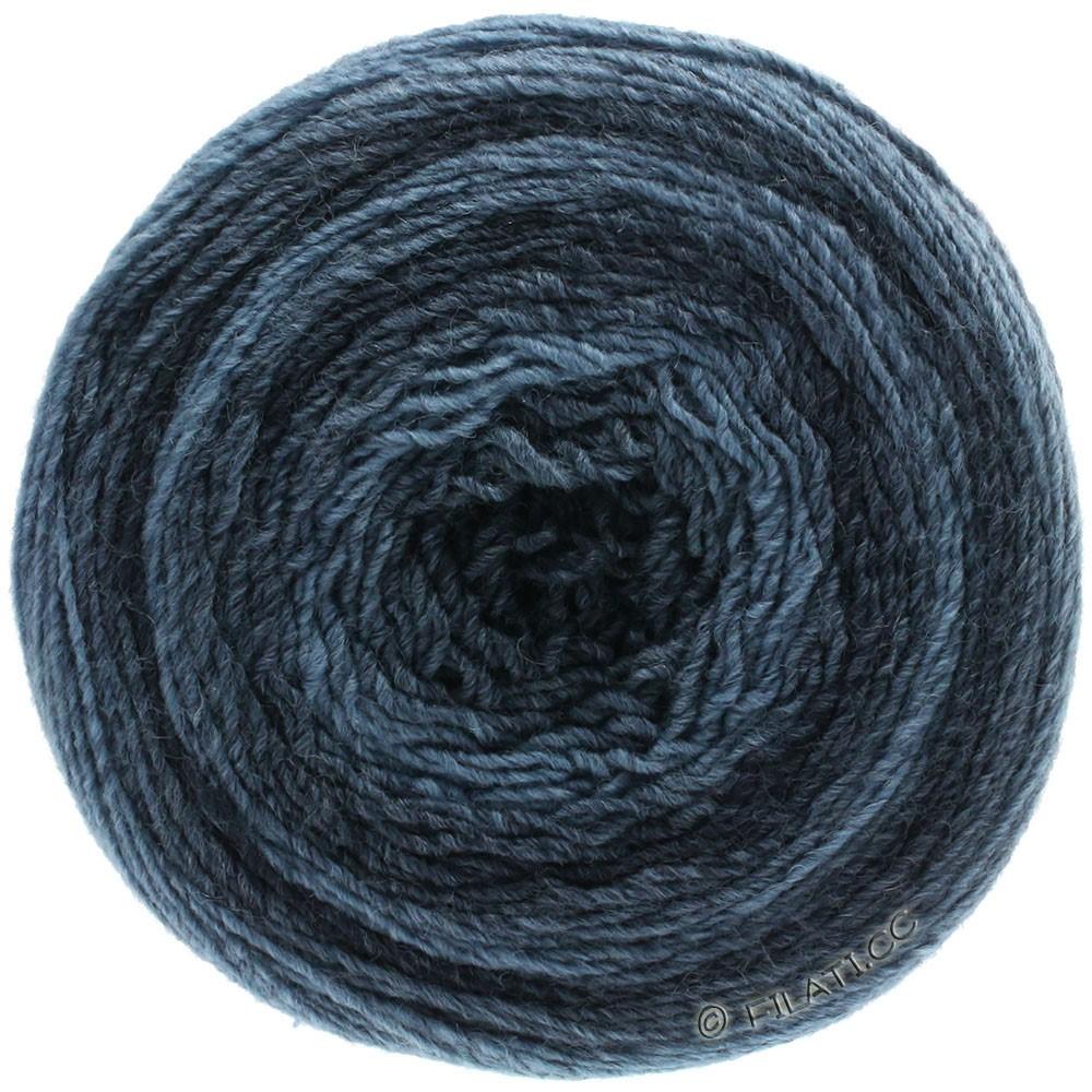 Lana Grossa GOMITOLO 200 Degradé | 301-джинс/тёмно-синий